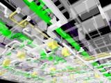 HVAC - Rede de dutos e difusores em 3 D
